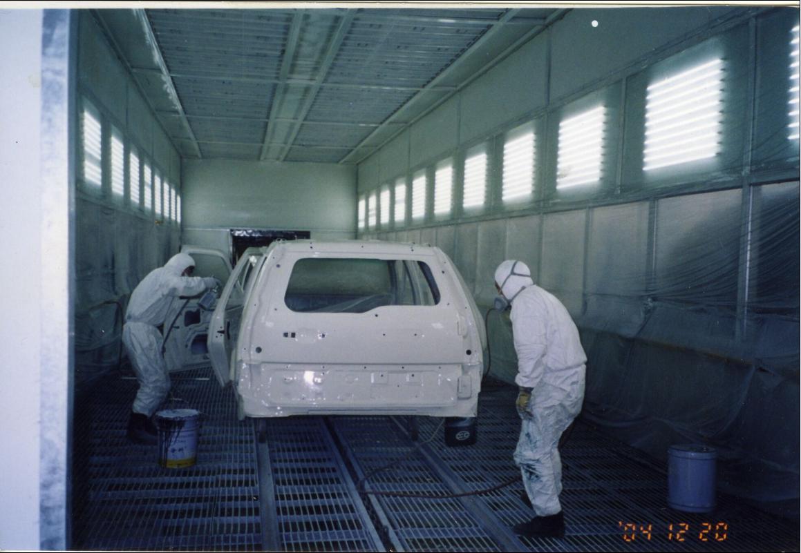 汽车喷漆室